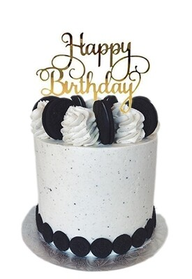 Cake Topper - Happy Birthday (Gold)