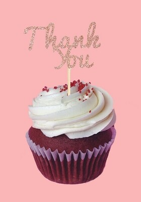 Cupcake Topper - Thank You