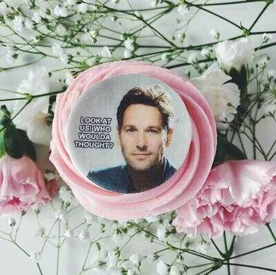 Paul Rudd Valentine's Cupcake