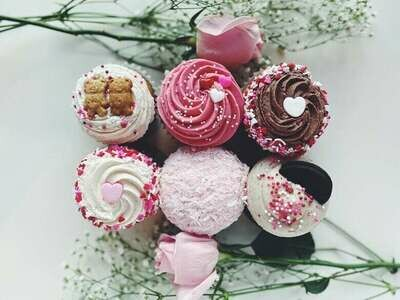 Half Dozen Classic Valentine's Cupcakes