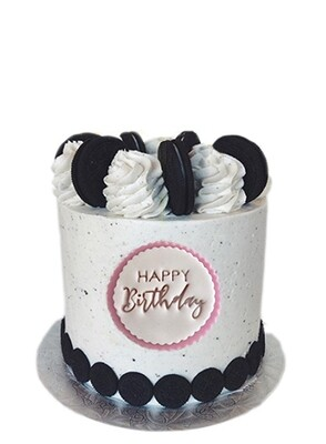 Cake Topper - Happy Birthday (Personalized Fondant Disc)
