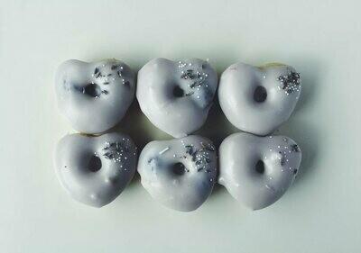 Heart-Shaped Blackberry Lavender Donuts