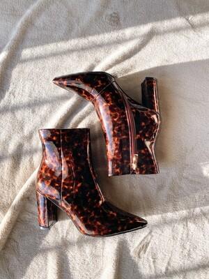 Tortoise Acrylic Boots