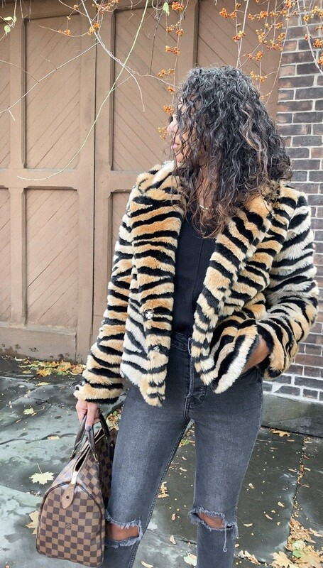 Faux Fur Tiger Jacket