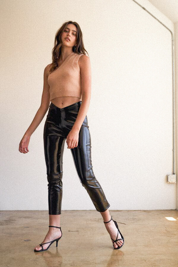 Shiny Pleather Trousers