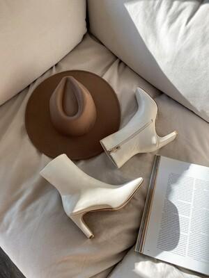 Milk Square Toe Boots