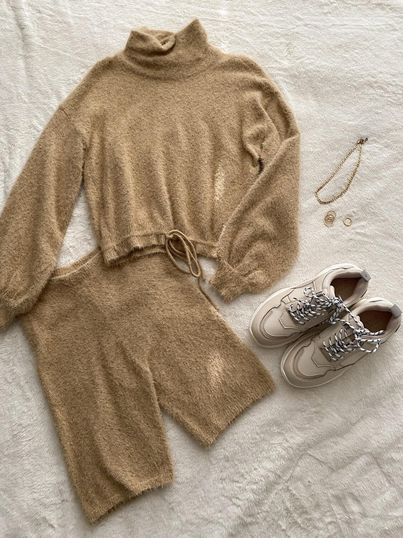Oatmeal Turtleneck Sweater