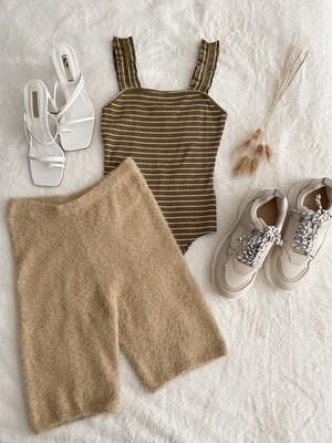 Oatmeal Sweater Bike Shorts