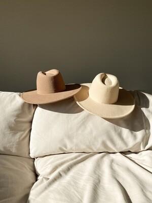 Wide Flat Brim Western Hat