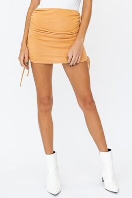 Dusty Peach Mini Skirt