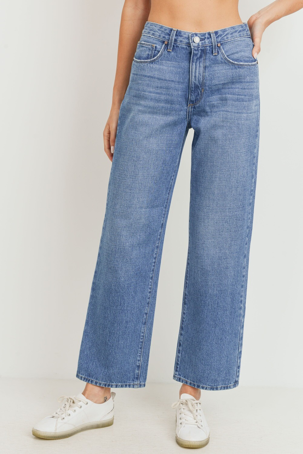 High-Rise Medium Wash Dad Jeans