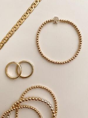 Gold Filled Initial Bracelet