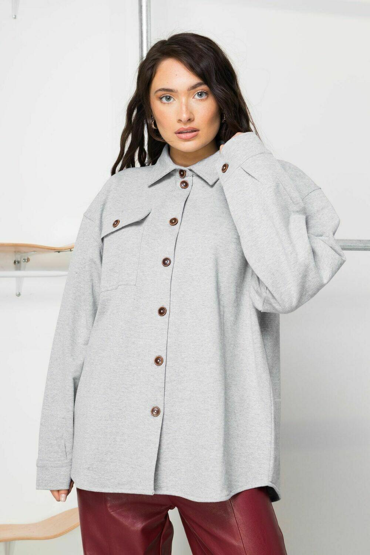 Grey Button Jersey Shirt