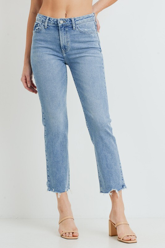 High-Rise Light Vintage Straight Jeans