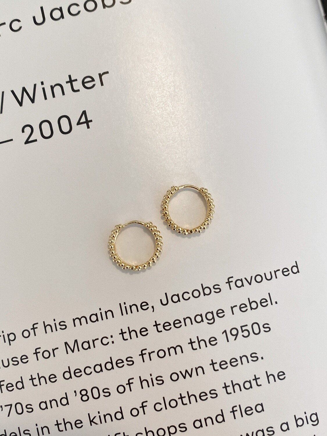Tiny Ball Hoop Earrings