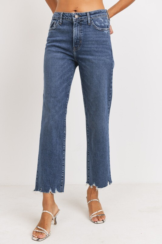 High-Rise Medium Vintage Straight Jeans