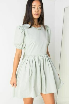Mint Green Open Back Dress