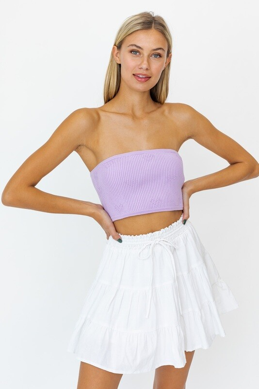 Lavender Knit Tube Top