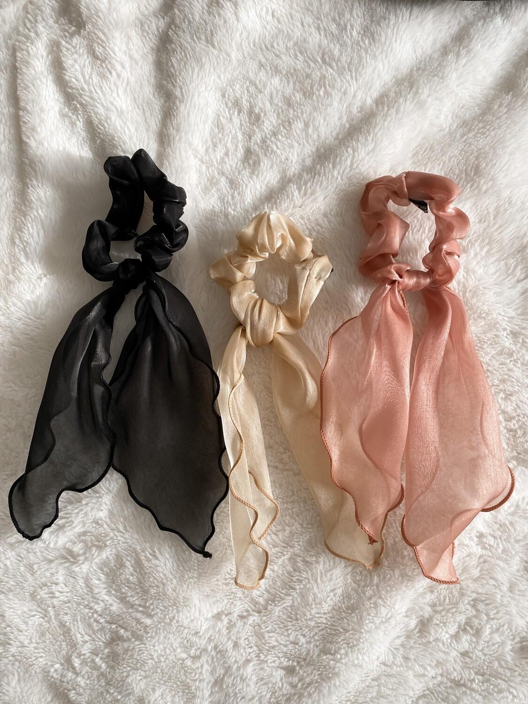 Kim Three Pack Scrunchies