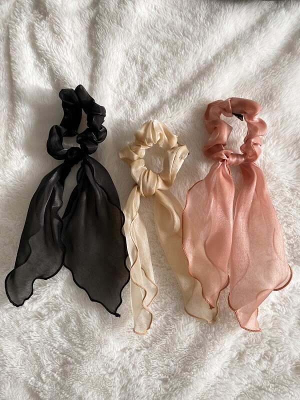 Kim Three Pack Scrunchies