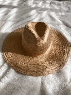 Tan Wide Brim Farmer's Hat
