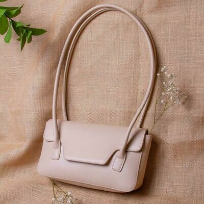 Christy Nude Shoulder Bag