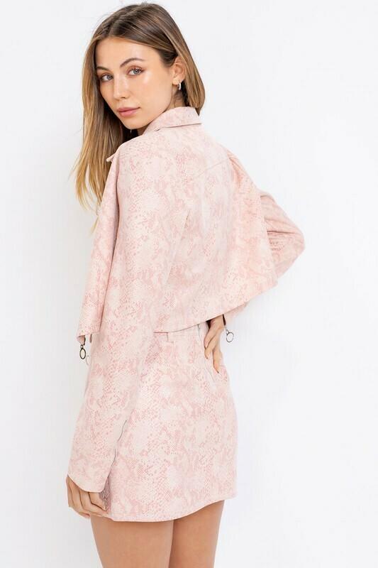 Pink Animal Print Jacket
