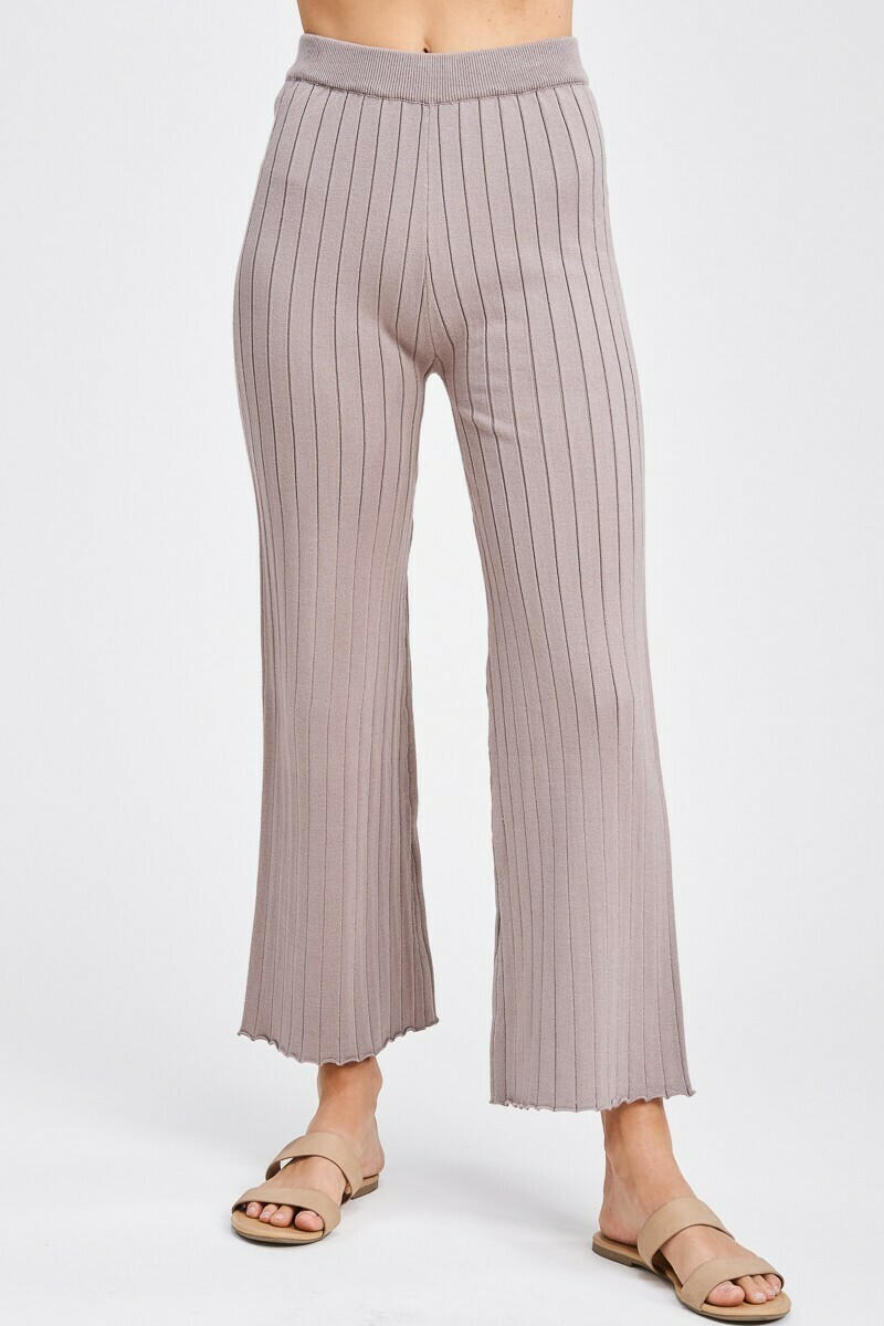 Mocha Heavy Ribbed Pants