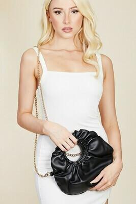 Black Round Pouch Bag