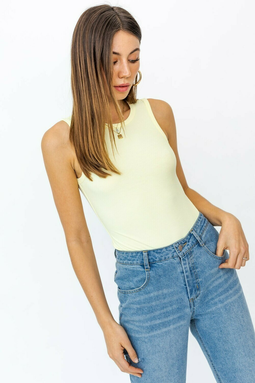 Lemon Round Neck Bodysuit
