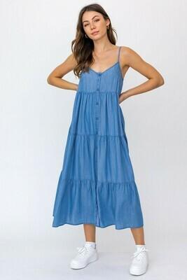 Denim Button Down Maxi Dress