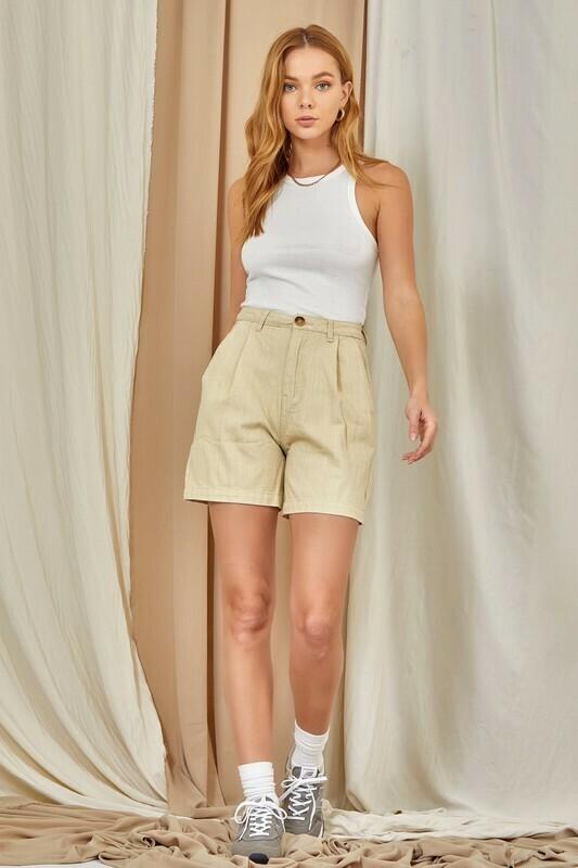 Latte Cotton Dad Shorts
