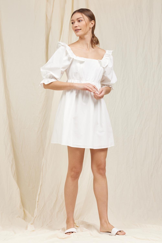 White Poplin Babydoll Dress