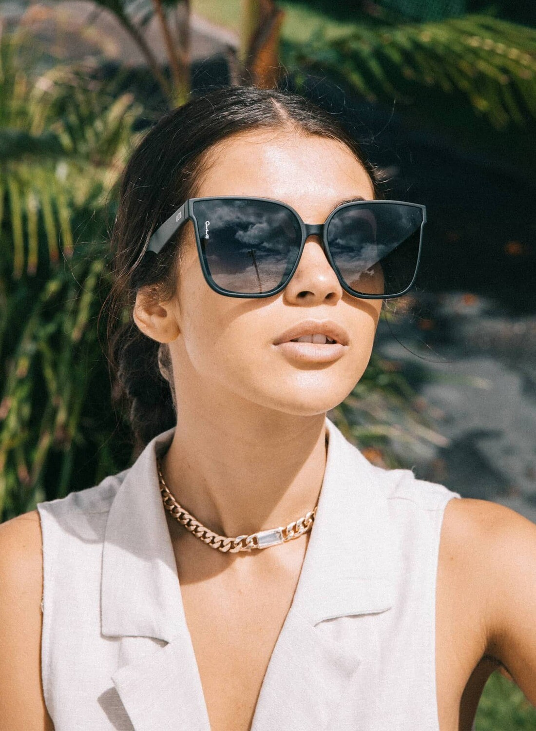 Sweet About Me Black Sunglasses