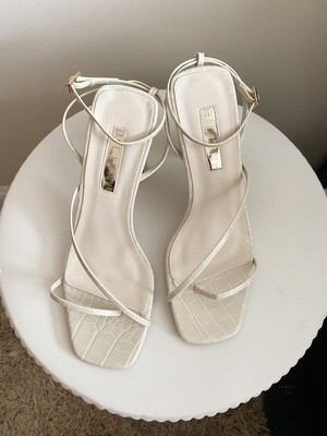 Clay Croc Strappy Heeled Sandal