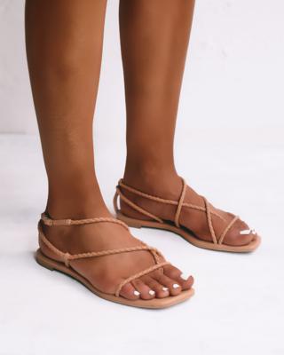 Desert Braided Wrap Sandal