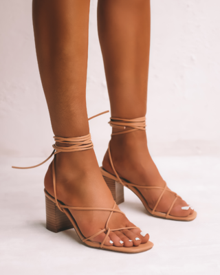 Desert Wrap Wooden Heel Sandals