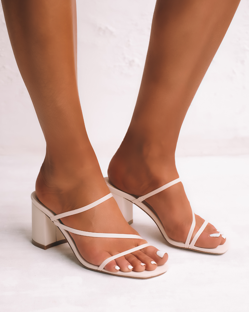 White Clay Strappy Mule
