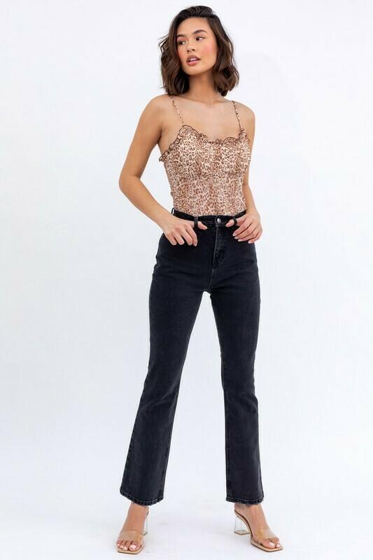 Mesh Cheetah Print Bodysuit
