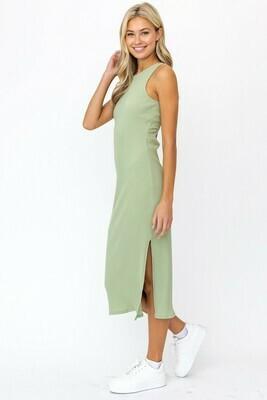 Sage Twist Midi Dress