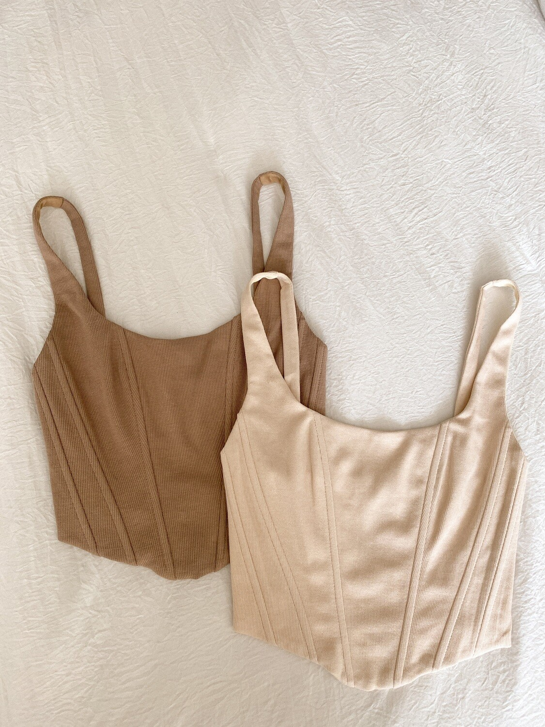 Taupe Bustier Tank Top