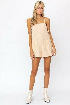 Taupe Tie Side Romper