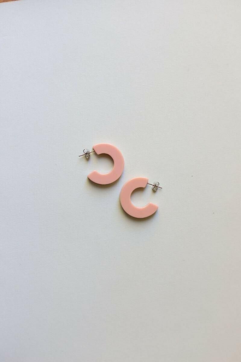 Pink Medium Acrylic Hoops