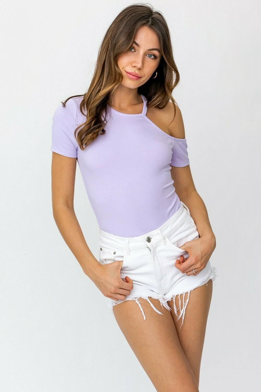 Lavender Cutout Slv Bodysuit