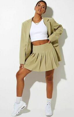 Green Pleated Tennis Skirt