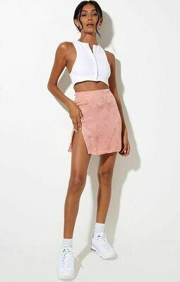 Rose Coral Mini Skirt