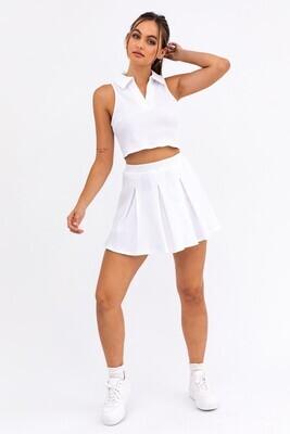 White Pleated Tennis Skirt