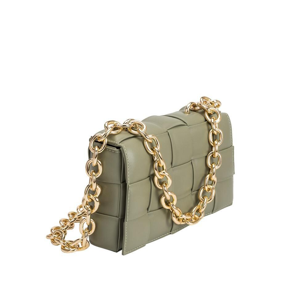 Moss Quilted Bag