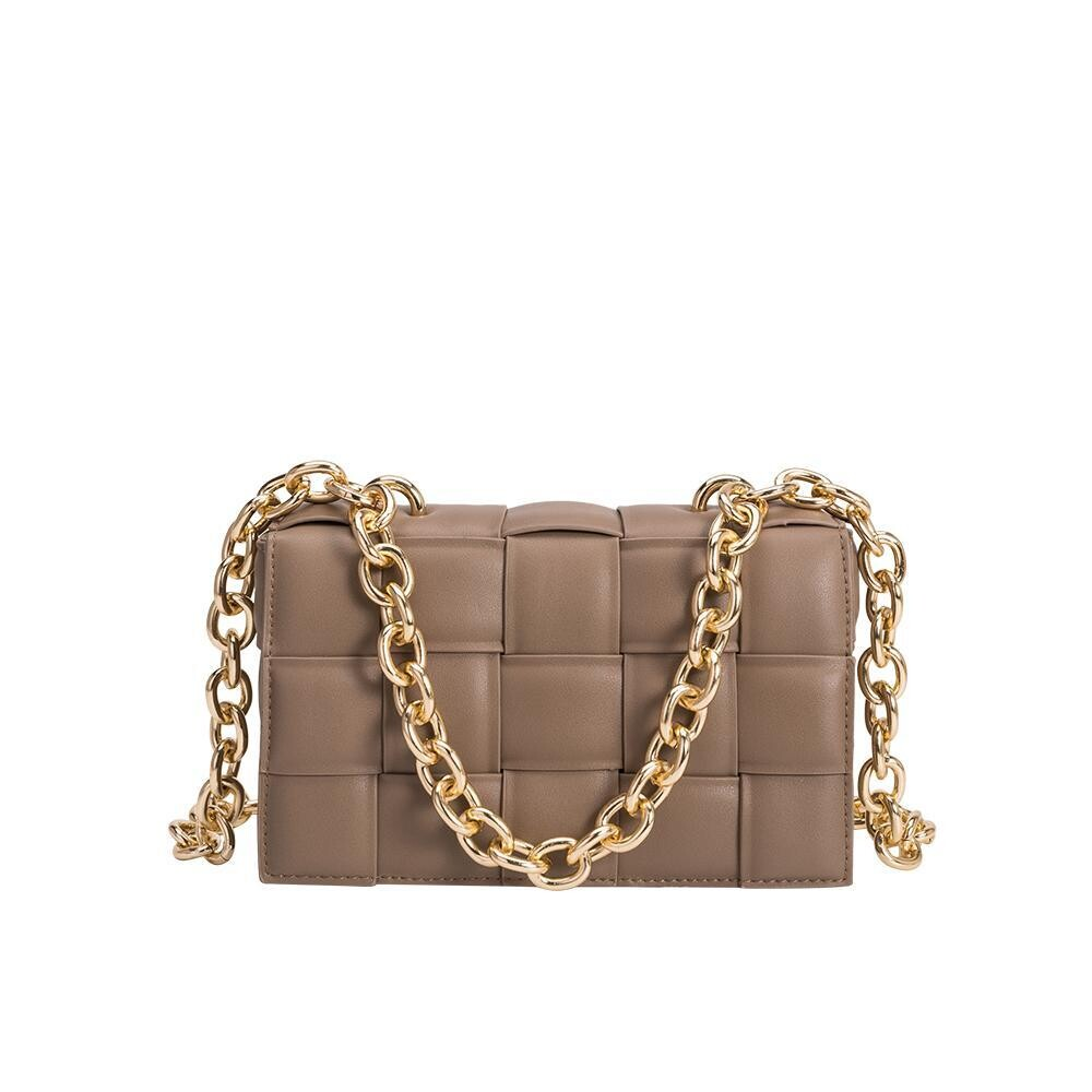 Taupe Quilted Bag