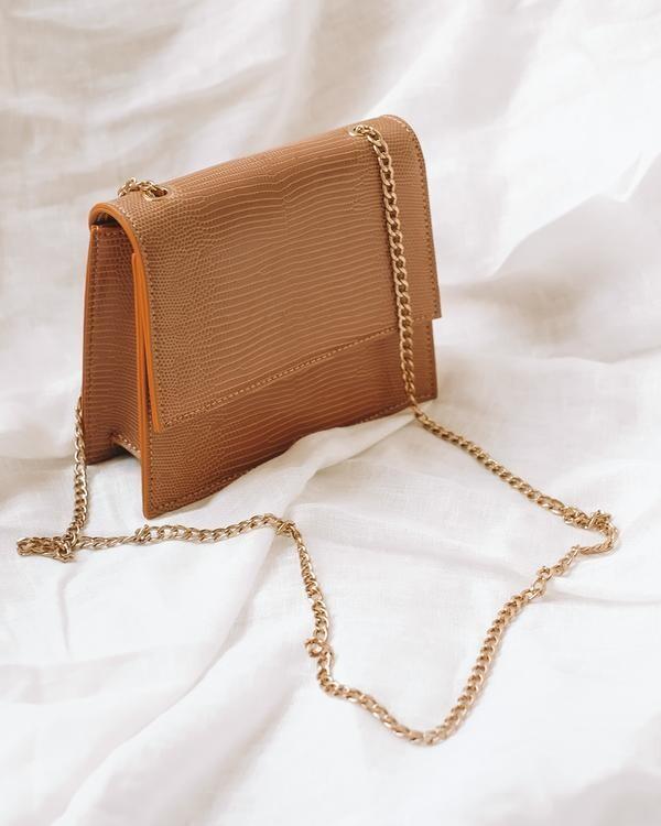 Butterscotch Lizard Chain Bag